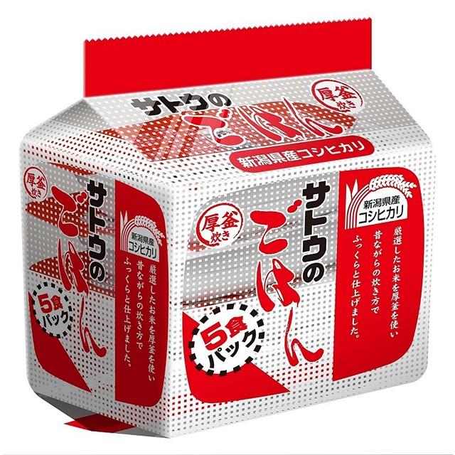 サトウのごはん 新潟県産コシヒカリ 200g×5食 サトウ食品 パックごはん パック米飯 米 お米 レトルト