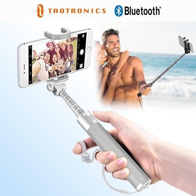自撮り棒 TT-ST001 ホワイト 白 TaoTronics 超軽量アルミニウム合金製 Bluetooth対応ワイヤレス接続 セルフィ