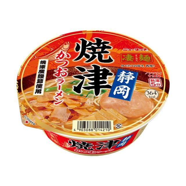 ニュータッチ 凄麺 静岡焼津かつおラーメン 109g×12個 ヤマダイ カップ麺 カップラーメン ケース販売 箱買い 大容量 備蓄 ご当地