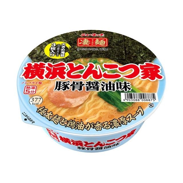 ニュータッチ 凄麺 横浜とんこつ家 117g×12個 ヤマダイ カップ麺 カップラーメン ケース販売 箱買い 大容量 備蓄 ご当地