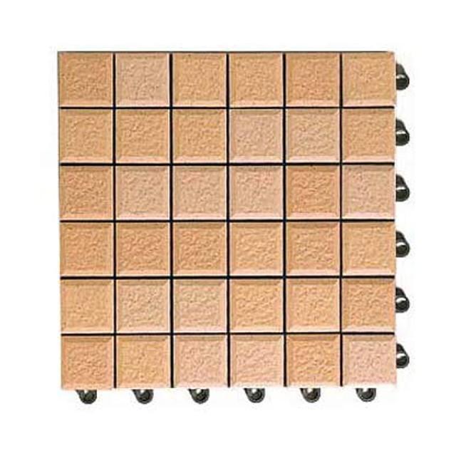 TOTO タイルデッキ材 バーセア サニーベージュ 50角 10枚 MN0110/オレンジ TOTO