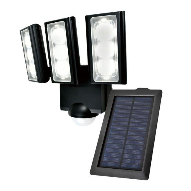 ソーラー式センサーライト エコ 防水 省エネ 節約 低赤外線 低UV 屋外 防水 LED センサーライト 照明 防犯 防雨 明るい 節電 庭 玄関