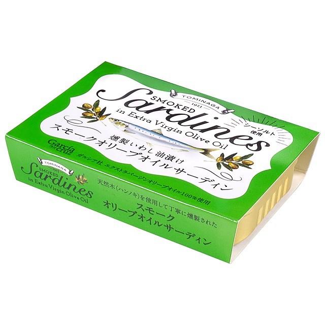 TOMINAGA スモークオイルサーディン 燻製いわし油漬け ラトビア産 100g×8個 富永貿易 まとめ買い
