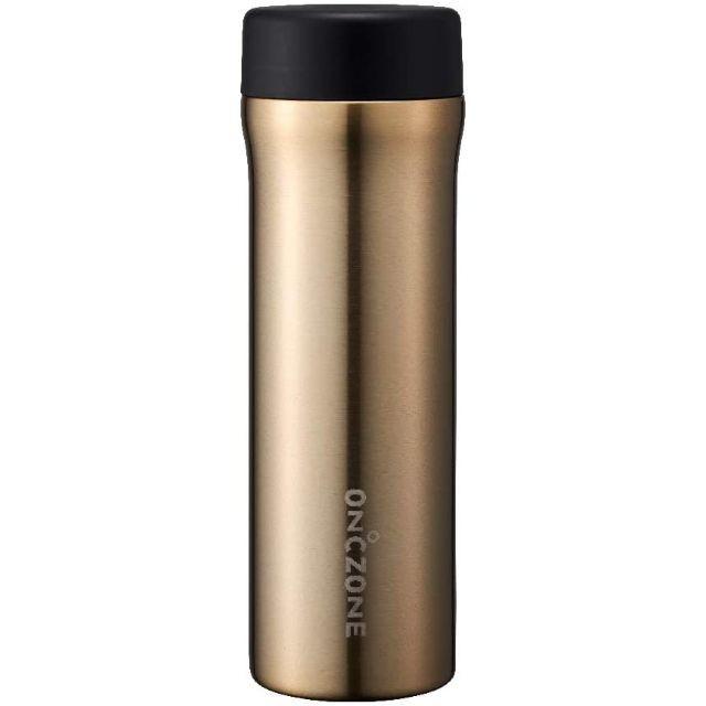 ドウシシャ ON℃ZONE (オンドゾーン) 氷点下 ボトル 555mL 水筒 ゴールド OZFB555GD