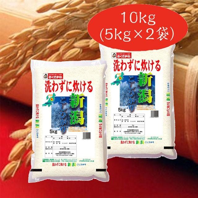 米 お米 無洗米 新潟県産コシヒカリ10kg(5kg×2袋)令和2年産