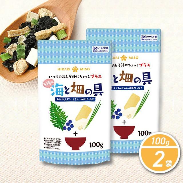 味噌汁 味噌汁の具 海と畑の具 100g×2袋 ひかり味噌 乾燥具材 フリーズドライ ちょい足し 野菜 海藻