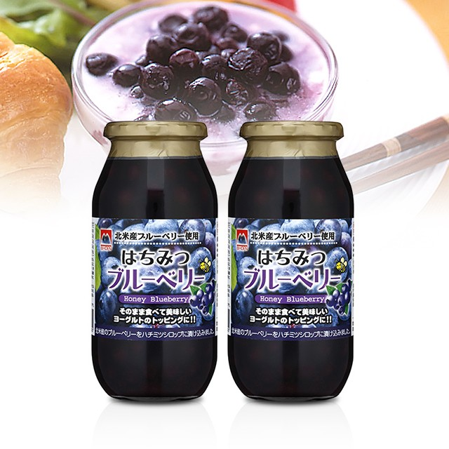 加藤美蜂園 はちみつブルーベリー 650g×2本 蜂蜜 ハチミツ 瓶詰 甘味料 ヨーグルト