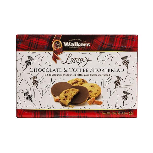 ウォーカー Walkers チョコ&トフィー 12枚入 ショートブレッド チョコ イギリス クリスマス 輸入 菓子 パーティー