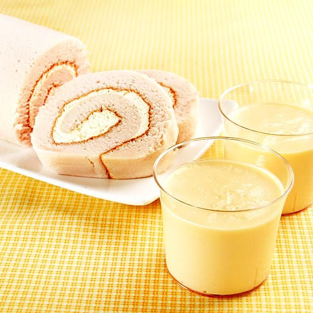 送料無料 乳蔵 北海道 レアロール & プリン セット ケーキ ミルク ロールケーキ