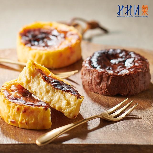 札幌 みれい菓 バスクチーズケーキ アソート 2種 各3個 バスク チョコ トレンド 北海道 チーズ ギフト 詰め合わせ