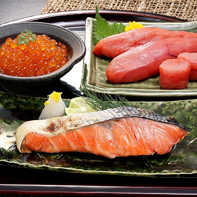 紅鮭と魚卵セット( 紅鮭切身×320g(4切)、たらこ×150g、いくら×100g) いくら たらこ さけ イクラ 鮭 タラコ