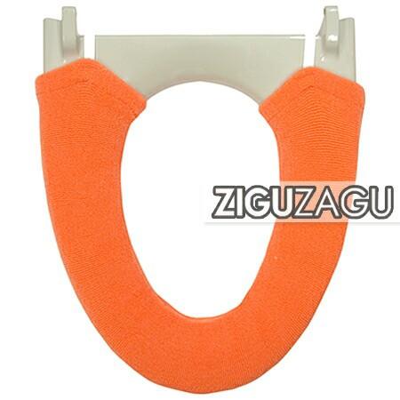 便座カバー 洗浄便座用 ZIGUZAGU オレンジ(代引不可)