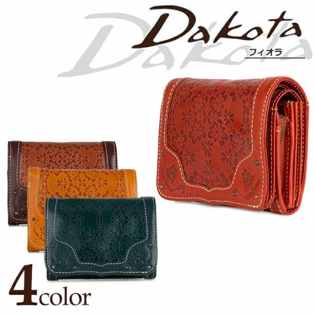 ダコタ Dakota 二つ折り財布 0035641 フィオラ 【 ファスナー式 札入れ レディース レザー 】