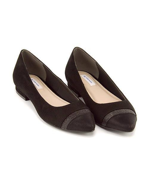 マリ・クレール ビス カッター パンプス ローヒール レディース 限定モデル 美脚 marie claire bis 177003 ブラック