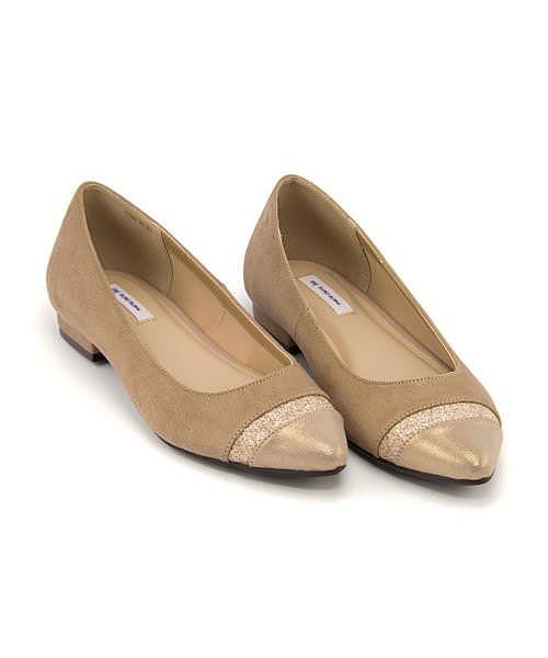 マリ・クレール ビス カッター パンプス ローヒール レディース 限定モデル 美脚 marie claire bis 177003 ベージュ