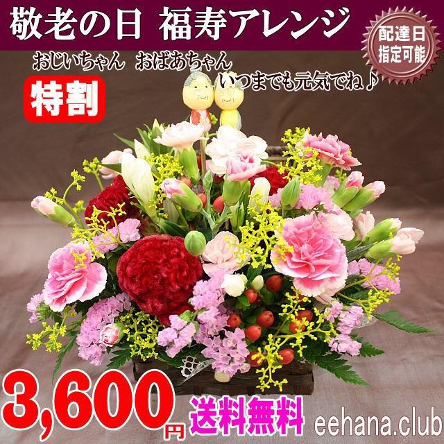 あす着対応OK!敬老の日★華やか福寿アレンジ3 680円【送料無料】ネット特価!!