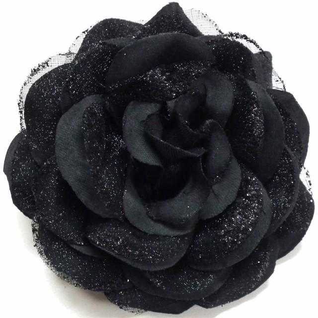 コサージュ 新 輝きコサージュ ブラック 5r-10 メール便送料無料 フォーマル スーツ レディース ママ 母親 子供 結婚式 着物 卒業式 卒園