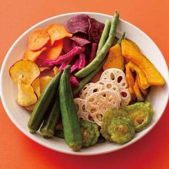 9種の野菜チップス ドライチップス 野菜チップ お茶請け ティーライフ さつまいも にんじん かぼちゃ いんげん 紫いも 赤ダイコン オク