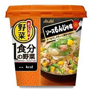 【送料無料】アサヒフード おどろき野菜 1食分の野菜 ソースもんじゃ味 25.8g×6入