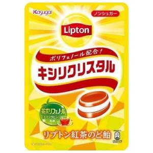 【送料無料】春日井製菓 キシリクリスタル リプトン紅茶のど飴 57g×6袋入 (キャンディ)