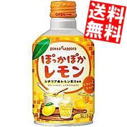 【送料無料】ポッカサッポロ ぽっかぽかレモン 290mlボトル缶 48本 (24本×2ケース) HOT