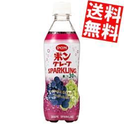 【送料無料】えひめ飲料 POM(ポン) グレープスパークリング 410mlペットボトル 48本 (24本×2ケース) [ポンジュース]