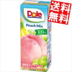 【送料無料】Dole ドール ピーチミックス100% 200ml紙パック 18本入[果汁100%][のしOK]big_dr