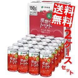 【送料無料】伊藤園 理想のトマト(CS缶) 190g缶 40本 (20本×2ケース) [トマトジュース][のしOK]big_dr
