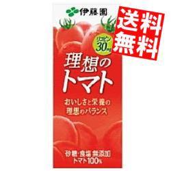 【送料無料】伊藤園 理想のトマト 200ml紙パック 24本入 [トマトジュース][のしOK]big_dr