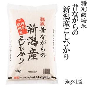 新米 令和2年産 昔ながらの新潟産こしひかり 5kg 特別栽培米 送料無料(一部地域のぞく) 高田屋お買い得企画