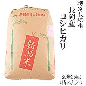 玄米25kg 長岡産コシヒカリ 令和2年産 送料無料(一部地域のぞく) 新潟県/精米無料/お米/おこめ/玄米