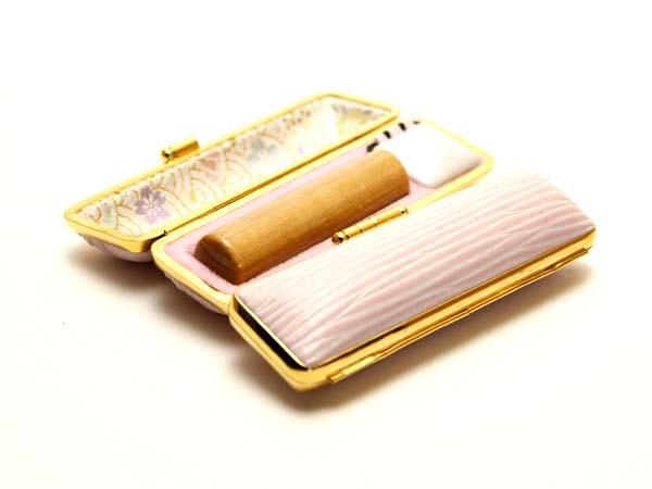 【メール便送料無料】 「楓(かえで)印鑑16.5mm×60mmクッキーケース(ピンク)付き」 印鑑/ハンコ/実印/銀行印/認印