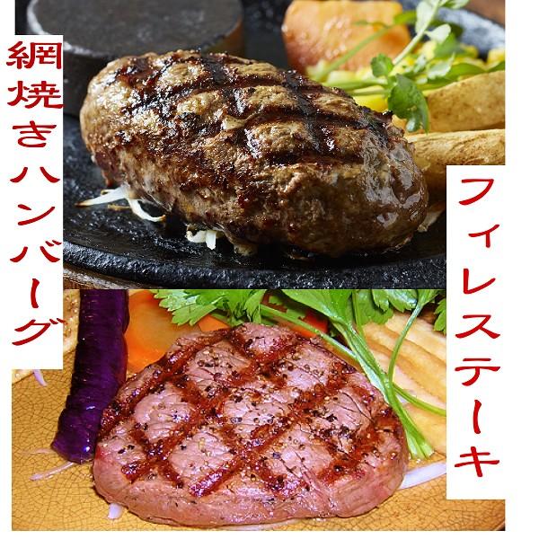 特選フィレステーキ5枚&網焼きハンバーグ5個【送料無料】ハンバーグ ステーキ 送料無料 お中元 ギフト