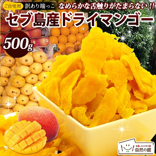 マンゴー 訳あり 不揃い セブ島 半生ドライマンゴー 500g ドライフルーツ 果物 訳あり おつまみ ダイエット 送料無料