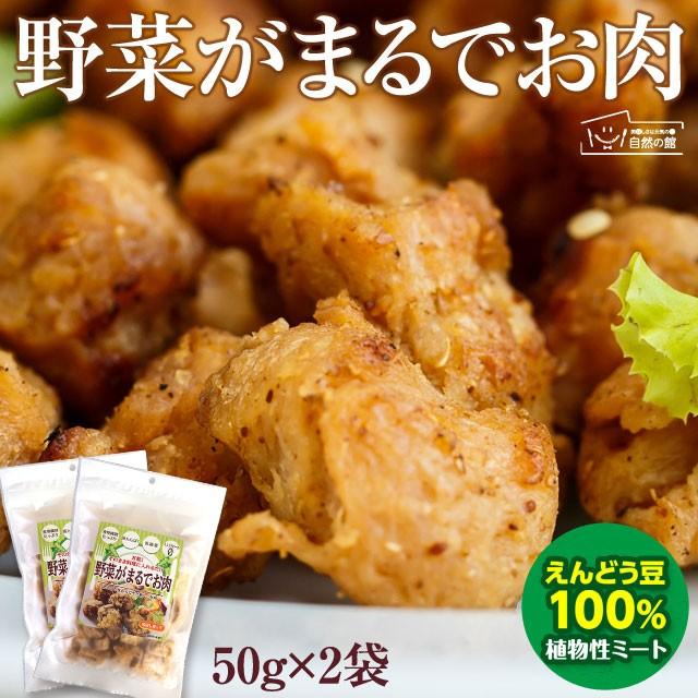 【お試し】 野菜がまるでお肉 50g×2袋 えんどう豆から作ったお肉 植物性ミート ダイエット 糖質オフ ヘルシー ベジタリアン