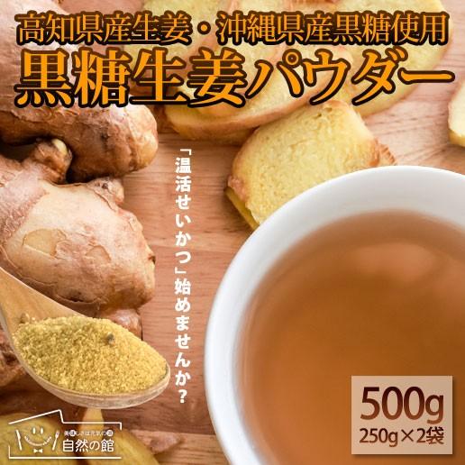 黒糖生姜パウダー250g×2 黒糖 生姜 しょうが 粉末 簡易包装 美容 健康 ダイエット 自然の館 非常食 保存食