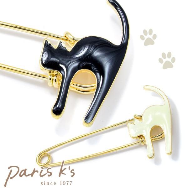 ブローチ ネコ シルエット アクセサリー 猫 モチーフ ねこ にゃんこ レディース ファッション 母の日 ギフト プレゼント