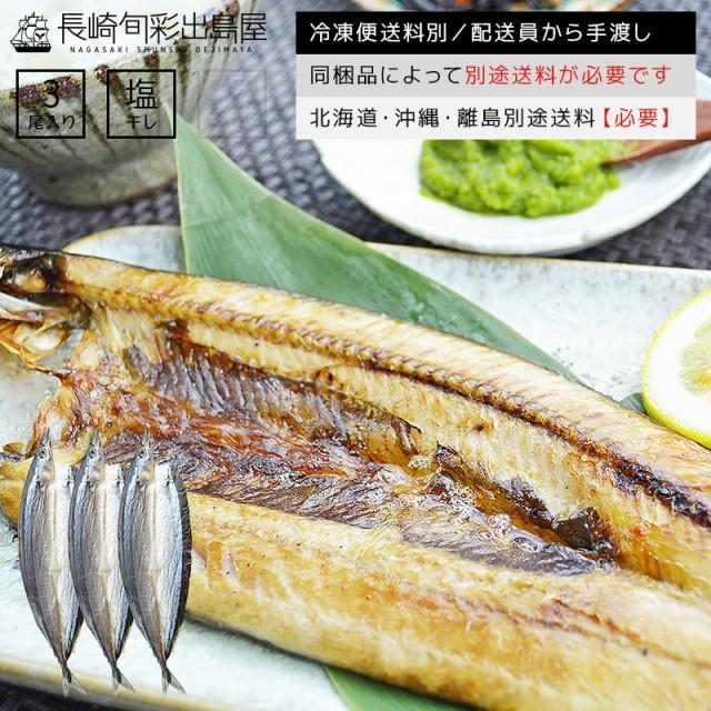 さんま一夜干し 3尾 冷凍便送料別 北海道・沖縄・離島のみ別途追加送料必要 さんま 秋刀魚