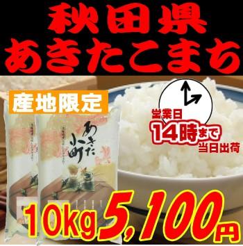 即納OK 令和元年産 [岩川水系米]秋田県あきたこまち10kg5 000円 玄米 白米 分搗き選択可能