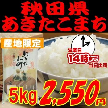 即納OK 令和元年産 [岩川水系米]秋田県あきたこまち5kg  玄米 白米 分搗き選択可能