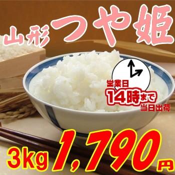 山形県産 つや姫 3kg 1 790円