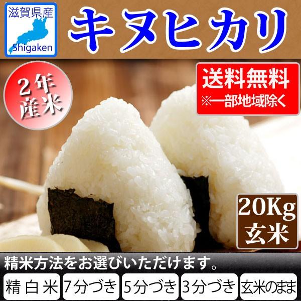 令和2年 滋賀県産キヌヒカリ20Kg玄米(10Kg×2本)【精米方法選べます】【送料無料※一部地域除く】