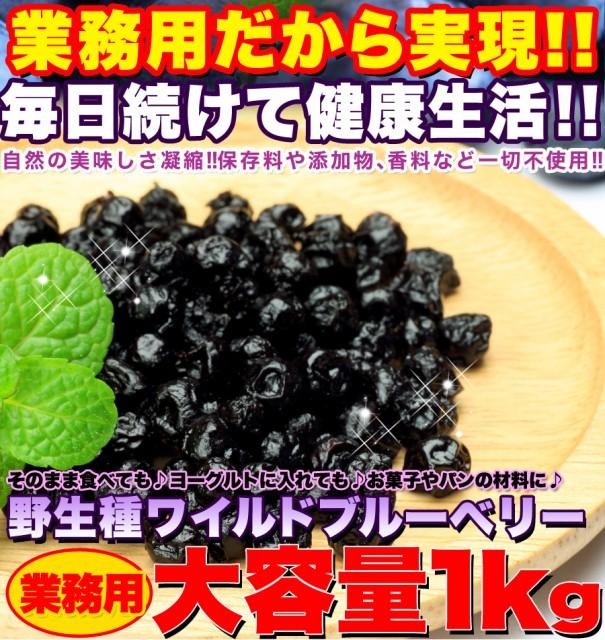 【送料無料】【同梱不可】野生種 ワイルドブルーベリー大容量1kg (SM00010048)