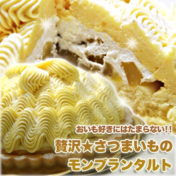 【送料無料】【同梱不可】贅沢 さつまいものモンブランタルト (SM00010083)