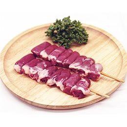 鳥ハツ串 40g×10本 焼き鳥 国産鶏 (15cm丸串)(pr)(42220) 肉 (冷凍 焼き鳥 焼鳥 やきとり)