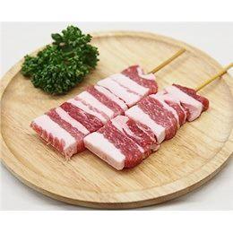 豚バラ串 40g×10本 外国産豚 (15cm丸串)(pr)(46320) 肉 (やきとん)