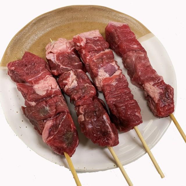 牛肩ロース串 40g×20本 外国産(アメリカ産牛肉) (15cm丸串)(pr)(49229)【牛肉串】