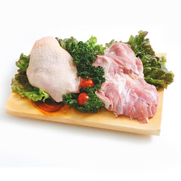 【送料無料】阿波尾鶏 鶏もも肉 2kg(1パックでの発送) (徳島県産) (pr)(03720)特定JAS認定 国産出荷量ナンバー1の軍鶏血統地鶏