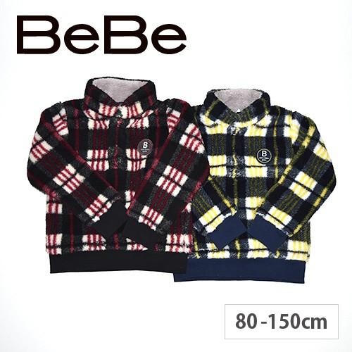 80%OFF 【 BeBe / ベベ 】トレーナー 子供服 チェック プリント ワッペン 男の子 アウトレット キッズ -bet