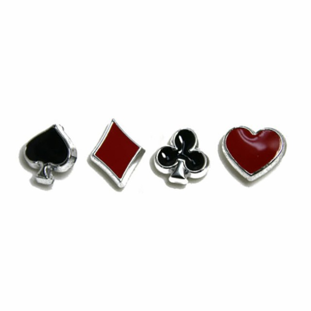 ピアス 樹脂ポストピアス トランプ Y56- 片耳用 単品 ハート スペード クローバー ダイヤ